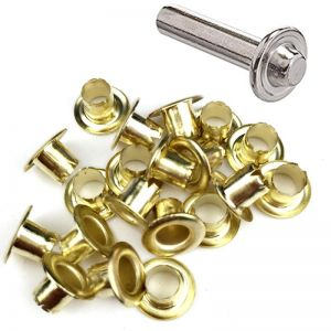 DIY Retail Eyelets 8mm GOLD + PUNCH TOOL