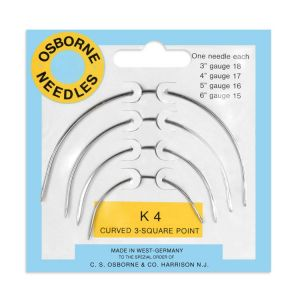 OSBORNE K-4 Curved Square Point Needle Card